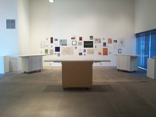 Traveling Flat Files - Block Art Space, Kansas City. Installation View
