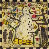 The Chicago Snowman - 2011, Etching on paper, 5 x 5 inches (paper), 3 x 3 inches (image). #3/45
