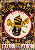 "Tony Fitzpatrick - ""Yellow Jackets,"" 2012, Mixed media on paper, 10 3/8 x 7 3/8 inches"