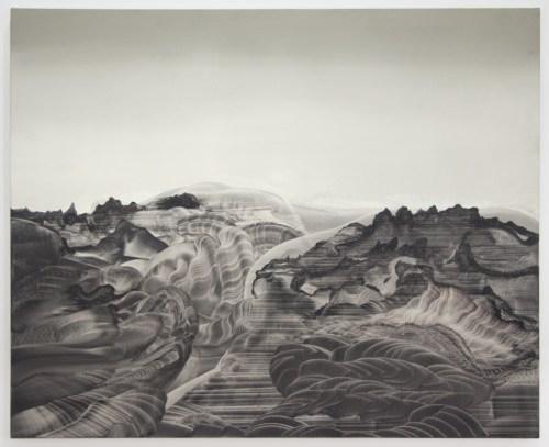 "Elliott Green - ""Attachment,"" 2017, Oil on canvas, 34 x 42 inches"