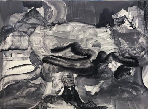 """Elliott Green - """"Time Noise,"""" 2017, Oil on linen, 36 x 48 inches"""