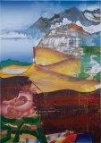 """Elliott Green - """"Beach Mountain,"""" 2015, Oil on linen 76 x 54 inches"""
