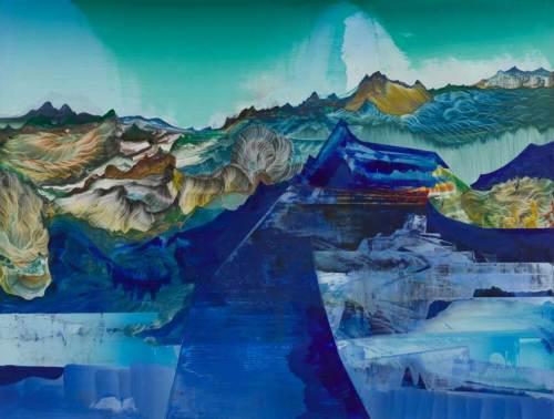 "Elliott Green - ""Blue Tonnage,"" 2018, Oil on linen, 28 x 37 inches"