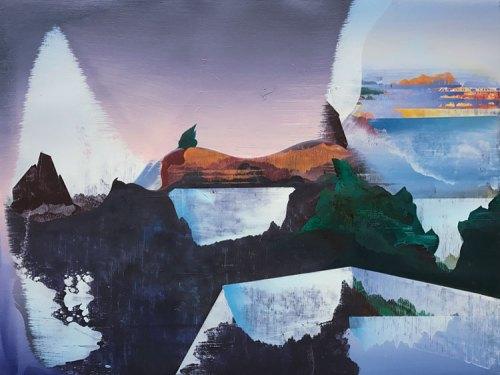 """Elliott Green - """"Expander,"""" 2016, Oil on linen, 18 x 24 inches"""