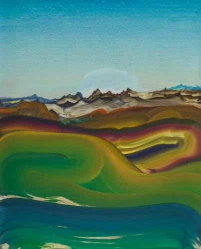 "Elliott Green - ""Halation,"" 2019, Oil on linen, 40 x 32 inches"
