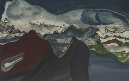 "Elliott Green - ""Magnificent Dust,"" 2017, Oil on linen, 48 x 76 inches"