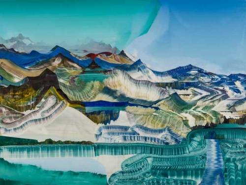 """Elliott Green - """"Reservoir Grasses,"""" 2018, Oil on linen, 30 x 40 inches"""