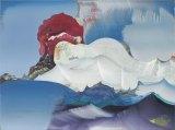 """Elliott Green - """"Shark Mouth,"""" 2014, Oil on linen, 24 x 32 inches"""