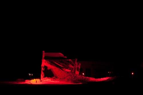 "CM von Hausswolff - ""Red Domestic Death (Tifariti, Western Sahara, 2010),"" 2010, C-Print, 15.75 x 13 inches"