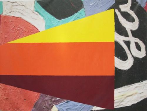 Big Sample (Davis) - 2006, Acrylic sign painters enamel on vinyl digital print (stretched), 112 x 150 inches