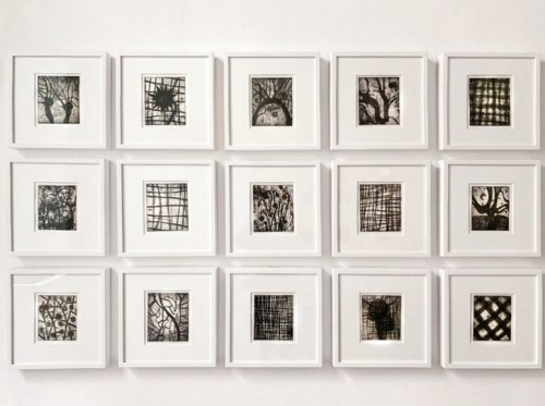 """Patrick Jacobs - """"Nocturnes,"""" Copperplate Etching with Drypoint, 6.5 x 5.5 inches each"""
