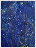 "Patrick Jacobs - ""Night Sky (Night Spirits II),"" 2018, Unique Viscosity Print, 24 x 18 inches"