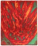 "Patrick Jacobs - ""Bad Acid (Night Spirits I),"" 2018, Unique Viscosity Print, 6 x 5 inches"