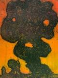 "Patrick Jacobs - ""Mud Man (Night Spirits II),"" 2020, Unique Viscosity Print, 24 x 18 inches"