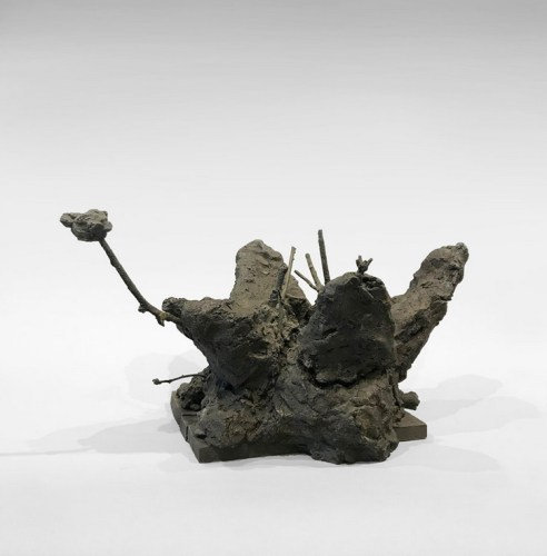 """Patrick Jacobs - """"Flower with Stamen (The Nocturnes),"""" 2019, Bronze, 11.5 (H) x 22 (W) x 16 (D) inches"""