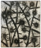 """Patrick Jacobs - """"Thistles #2 (Nocturnes),"""" 2019, Copper Plate Etching with Drypoint, 6.5 x 5.5 inches"""