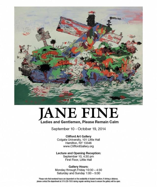 Jane Fine at Colgate