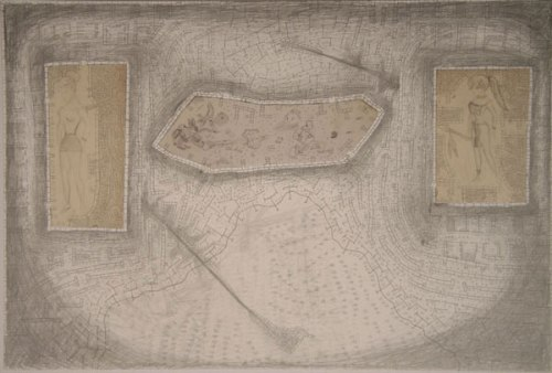 Untitled - 1958-1959-2009, Graphite on Paper and Museum Board, 20 x 30 inches