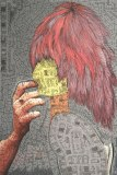 Untitled - 2003 (Ireland)-2009 (NY), Ink and Acrylic on Color Photograph, 24 x 16 inches