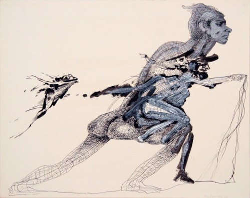 Kim Jones - Untitled, 1972-2011, Acrylic and ink on paper, 22.5 x 28.5 inches.