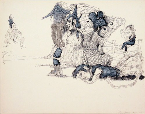 Kim Jones - Untitled, 1972-2011, Acrylic and ink on paper, 22.5 x 28.5 inches
