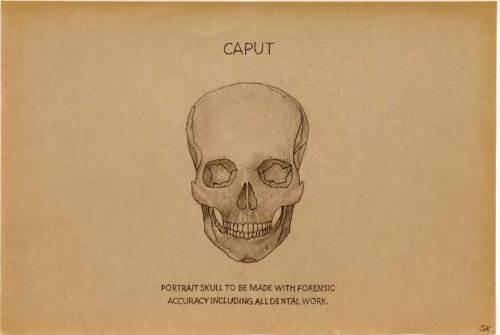 "Stephen Kaltenbach - ""Caput,"" drawing"