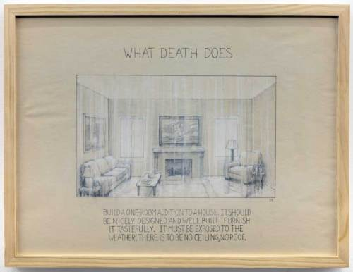 """Stephen Kaltenbach - """"What Death Does,"""" drawing"""