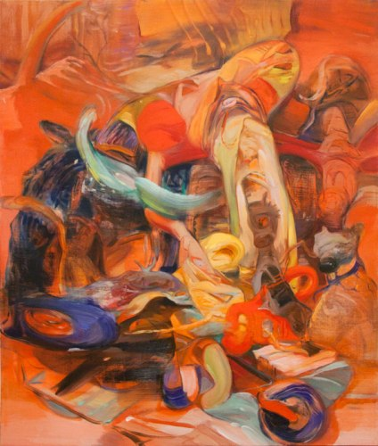Bird Transfer - 2012, Oil on linen, 38 x 32 inches