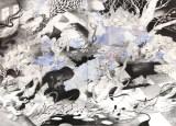 "Darina Karpov - ""Magic Days 1,"" 2015, Watercolor and acrylic on paper, 20 x 27 7/8 inches"