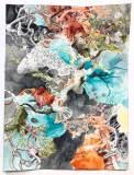 """Darina Karpov - """"Seized 1 (Suite 1–4),"""" 2019, Watercolor on paper, 24 x 18 inches"""