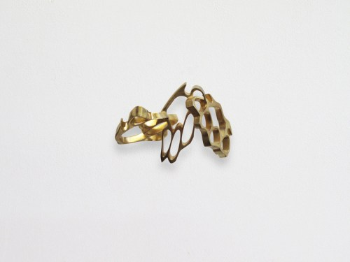 "Robert Lazzarini - ""Brass Knuckles (IV),"" 2010, Brass, Edition 1/12 + 1 A/P., 5 x 7 x 4 inches. $25,000"