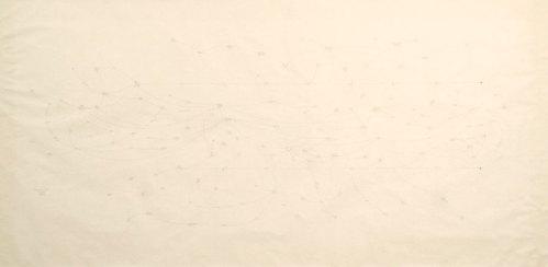 "Mark Lombardi - ""Nugan Hand Bank Sydney Australia c. 1973-80 (5th Version),"" 1995, Graphite on Paper, 45 x 89 inches framed"
