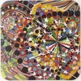 "Ati Maier - ""Zero Zero,"" 2012, Ink, woodstain on paper, 15 3/4 x 15 3/4 inches."