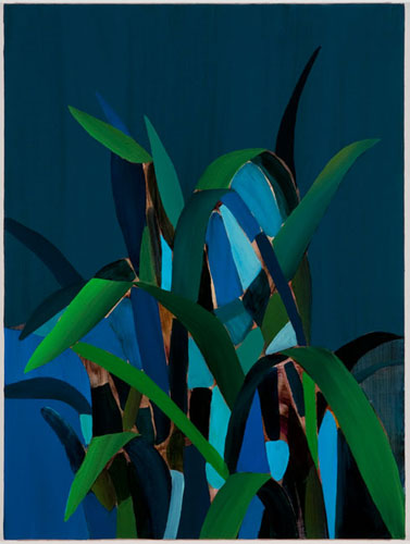 Constructed Plant - 2012, acrylic on canvas over panel