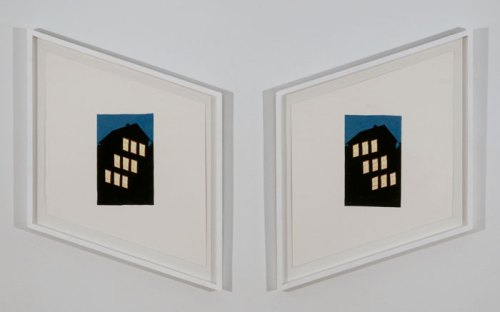 Doppleganger - 2012, Diptych, gouache on paper, 25 x 19 inches (each)