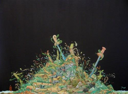 """Johan Nobell - """"Phantoms,"""" 2009, Oil on linen, 16 x 23.5 inches"""