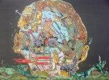 """Johan Nobell - """"Skulls,"""" 2009, Oil on linen, 16 x 23.5 inches"""