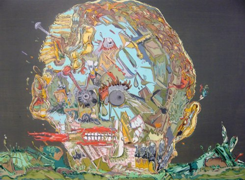 "Johan Nobell - ""Skulls,"" 2009, Oil on linen, 16 x 23.5 inches"