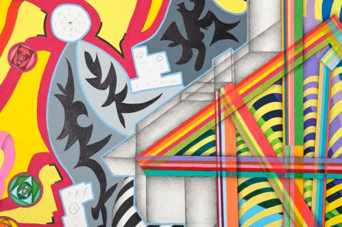 Detail: Blood Pressure - 2011, Colored pencil and graphite on paper, 77 1/2 x 70 inches