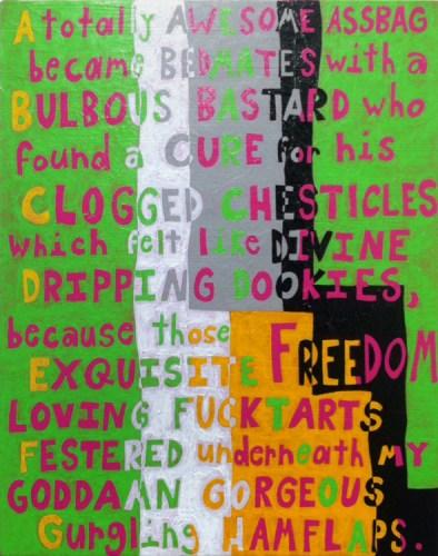 "John O'Connor - ""ABCDEFGH,"" 2015, Acrylic on panel, 20.25 x 16 inches"