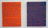 Ego Letters (Diptych) - 2013, Acrylic on panel, 12 x 8 inches (each panel)