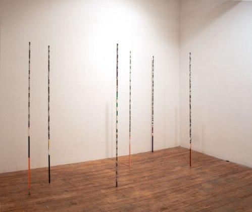 Untitled (Sticks) - 2011, Acrylic on aluminum, 72 x 1/2 inches