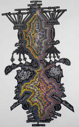 Turing - 2010, Colored pencil and graphite on paper, 78 x 50 inches