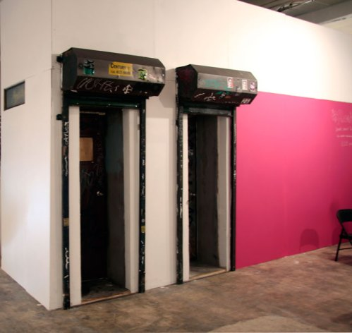 Andrew Ohanesian - Mandies (A working one-person bar with beer tap), 2010, Mixed Media, 99x96x65 inches.