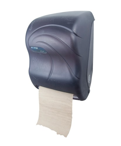 "Andrew Ohanesian - ""Oceans,"" 2013, San Jamar Tear-N-Dry Hands Free Paper Towel Dispenser, Natural Kraft Brown Roll Towel, 16 x 11 x 6 inches"