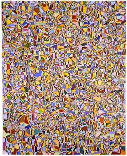 "Bruce Pearson (Ronald Feldman Fine Arts) - ""Encyclopedia IV,"" 2009, Oil and acrylic on styrofoam, 90.25 x 70.5 x 4.5 inches"