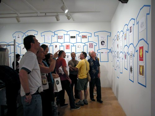 no title - Power Ts event in 2004. T-shirt designs were displayed in the gallery for visitors to select from.