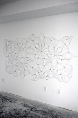 Pattern, Silver pen and pencil on wall, 48 x 72 inches, 2010