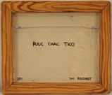 Puuc Chac Tko (reverse side) - Oil on cast plastic
