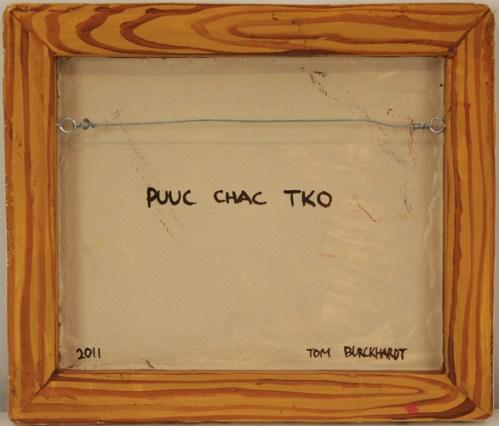Puuc Chac Tko (reverse side) - Oil on cast plastic